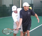 adult learn tennis